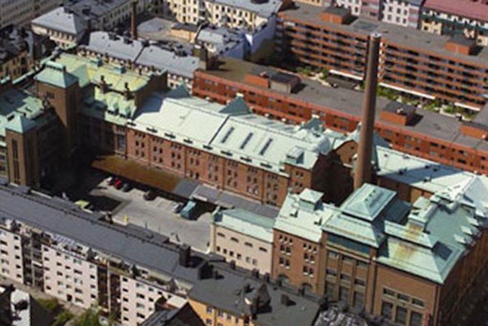 Block Stockholm och Stalandshuset från ovan